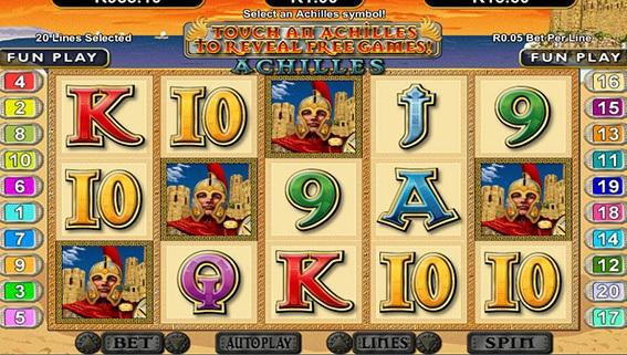 Achilles Game Screen