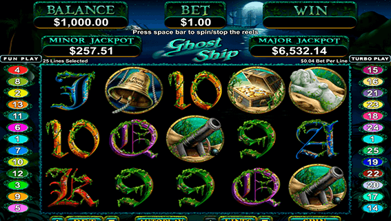 Ghost Ship Game Screen