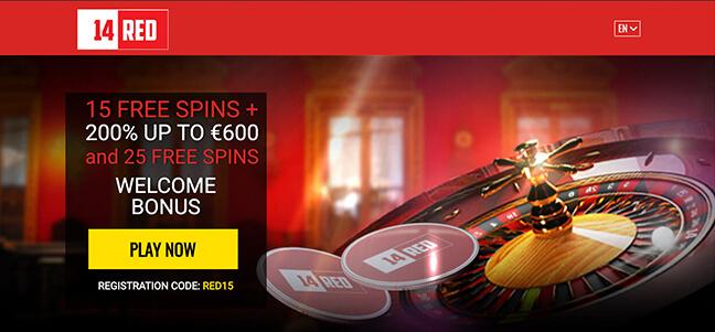 14Red Casino – No Deposit Bonus Offer