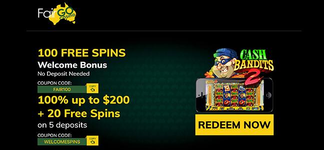 FairGo Casino - No Deposit Bonus Offer