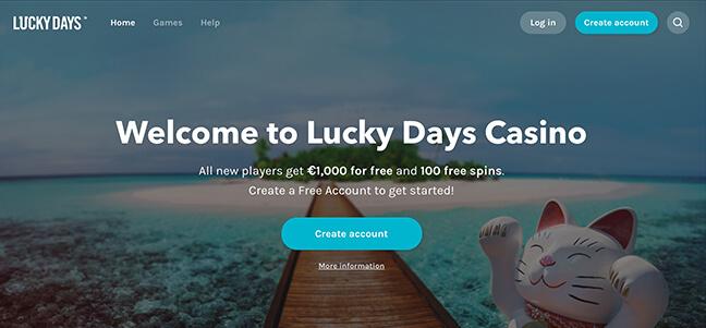 Lucky Days Casino – Welcome Bonus Offer