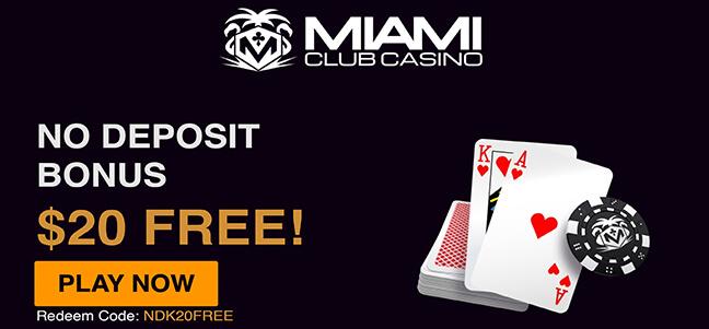 Miami Club Casino – No Deposit Bonus Offer
