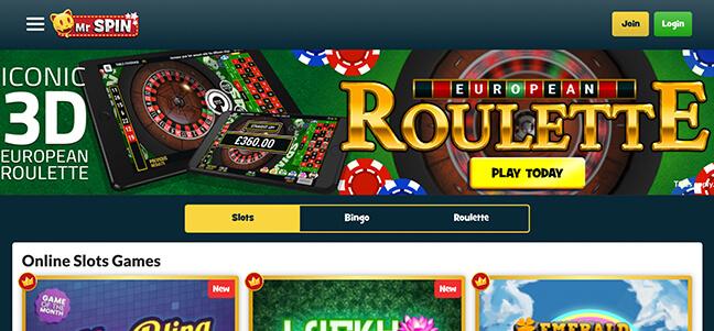 Mr Spin Casino - No Deposit Bonus Offer