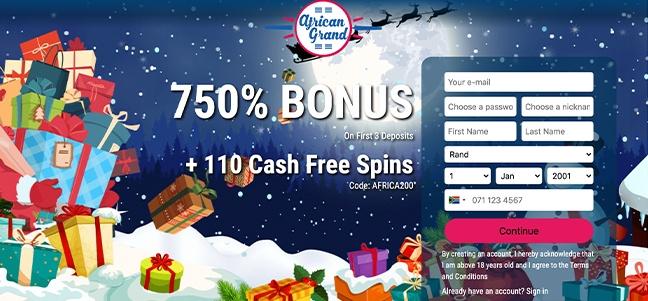African Grand Casino – No Deposit Bonus Offer