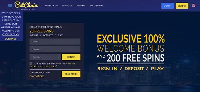 Betchain Casino – No Deposit Bonus Offer
