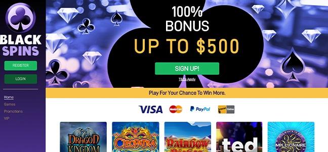 Black Spins Casino – No Deposit Bonus Offer