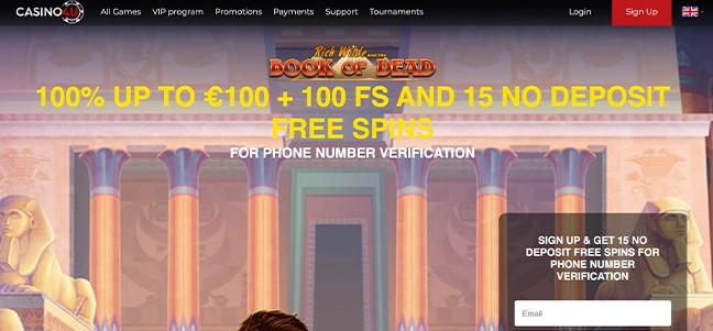 Casino4u – No Deposit Bonus Offer