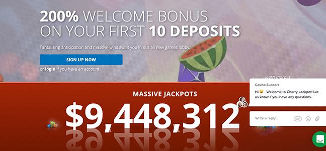 Cherry Jackpot Casino – No Deposit Bonus Offer