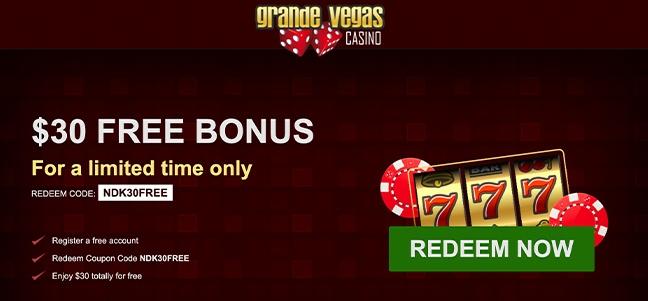 Grande Vegas Casino – No Deposit Bonus Offer