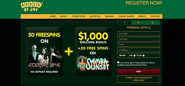 Reels of Joy Casino – No Deposit Bonus Offer