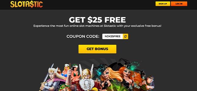 Slotastic Casino – No Deposit Bonus Offer