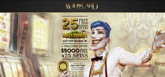 WildCardCity Casino – No Deposit Bonus Offer