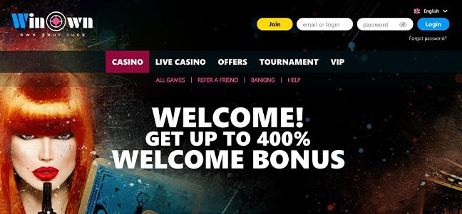 WinOwn Casino – No Deposit Bonus Offer