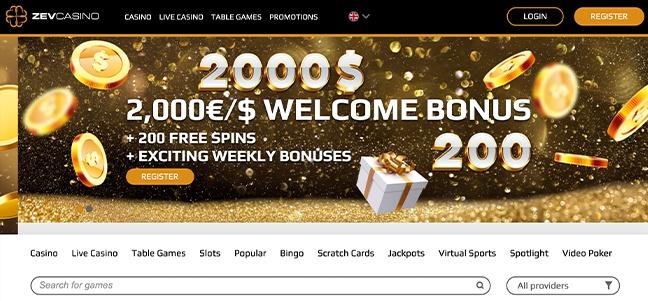 Zev Casino – No Deposit Bonus Offer
