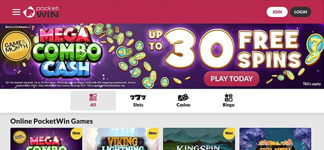 Pocketwin Casino - No Deposit Bonus Offer