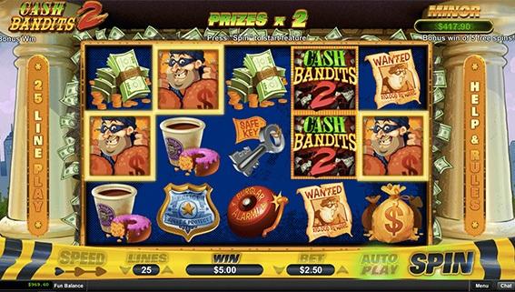 Cash Bandits 2 Game Screen